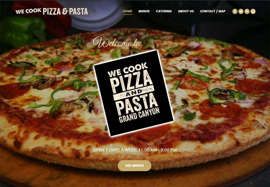 Websites for Restaurants and Pizzarias